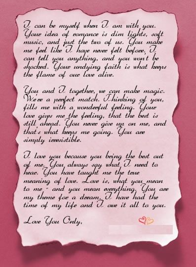 10 Romantic Love Letters For Him | http://stylishwife.com/2014/10