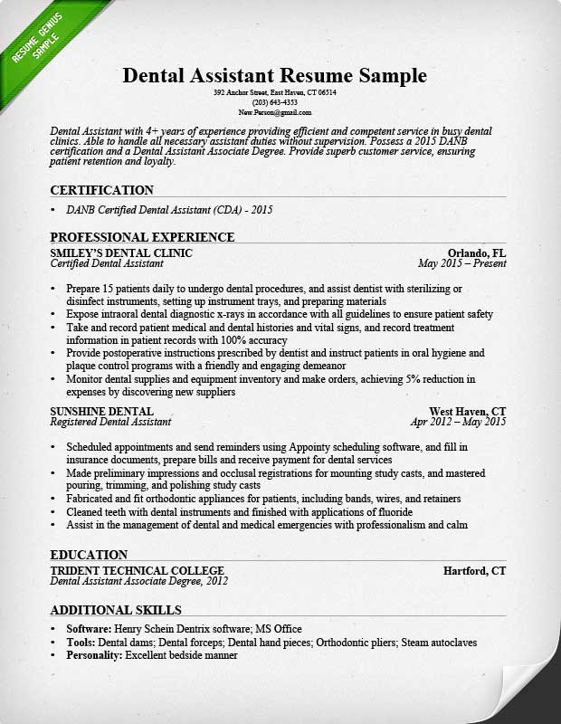 6+ dentist resume samples | grittrader