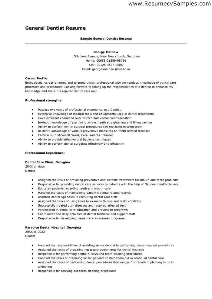 Dental Assistant Resume Sample & Tips | Resume Genius