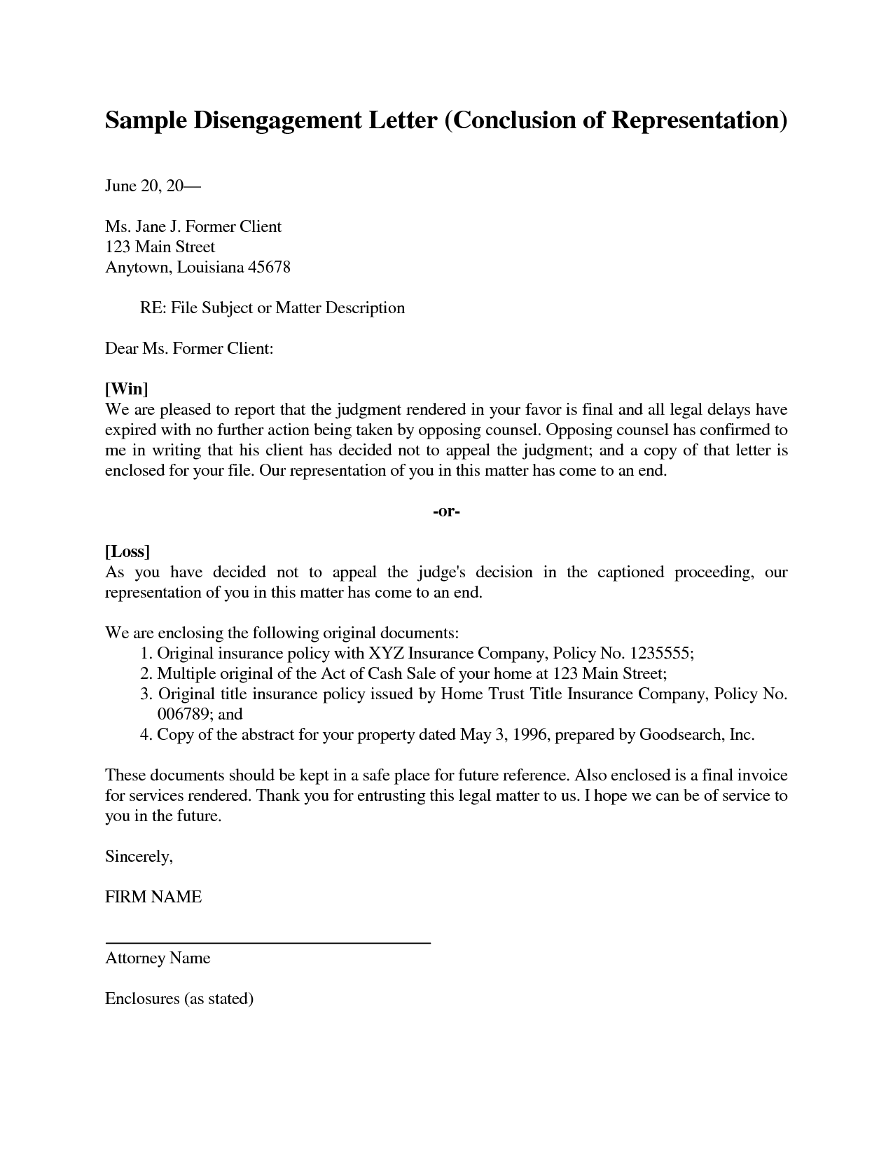 Sample Legal Representation Letter | mobile discoveries