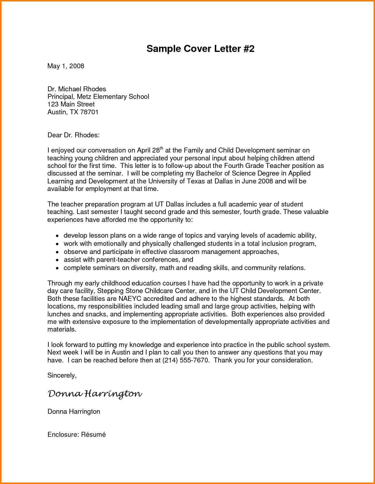 Sample Letter To Principal Mobile Discoveries