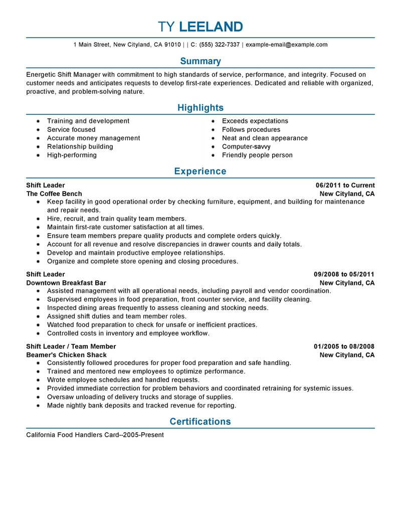 11 Amazing Management Resume Examples | LiveCareer