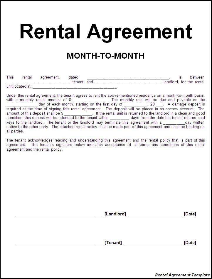 rental agreement free template tenant agreement template sample
