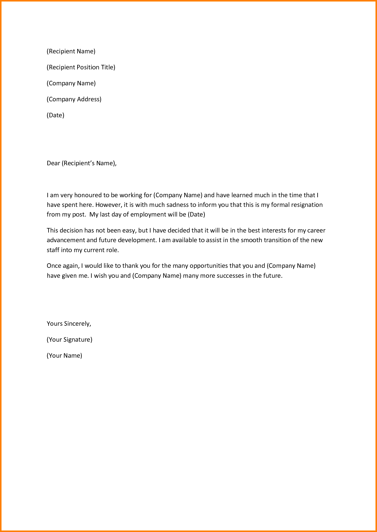 11+ sample resignation letter | cashier resume