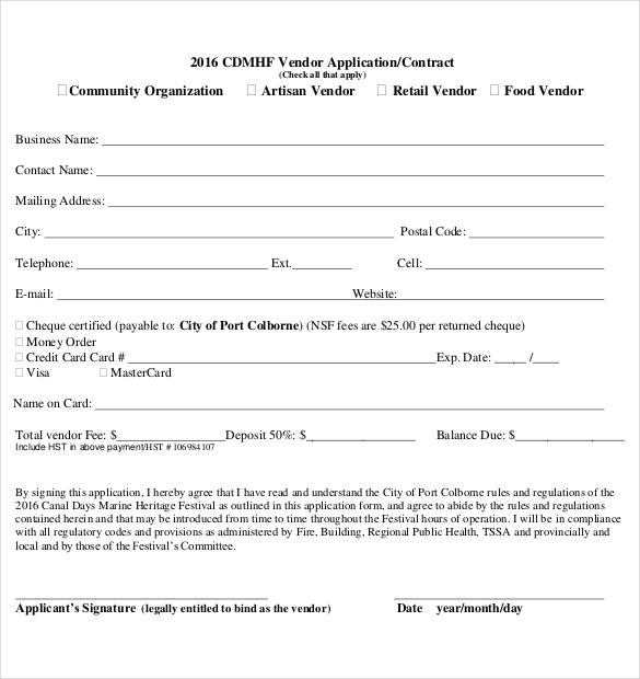 vendor qualification form template 10 vendor application templates