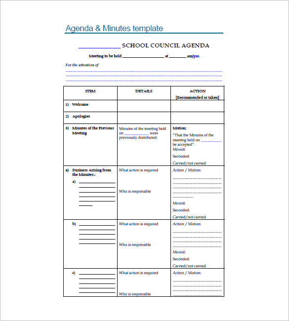 10+ School Agenda Templates Free Sample, Example, Format