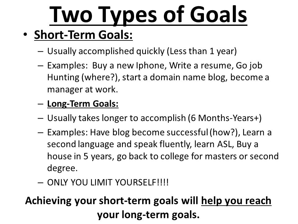 Good focus for measurable goal setting! | Blogging and the like