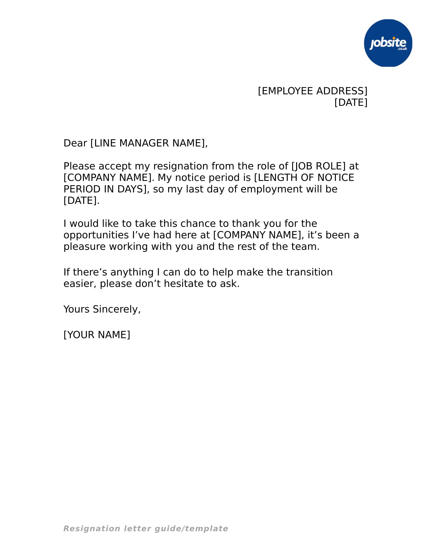 19+ Simple Resignation Letter Examples PDF, Word