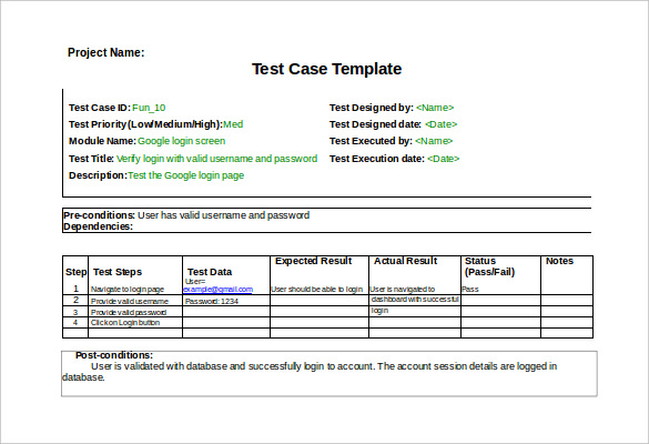 software testing templates free download Leon.escapers.co