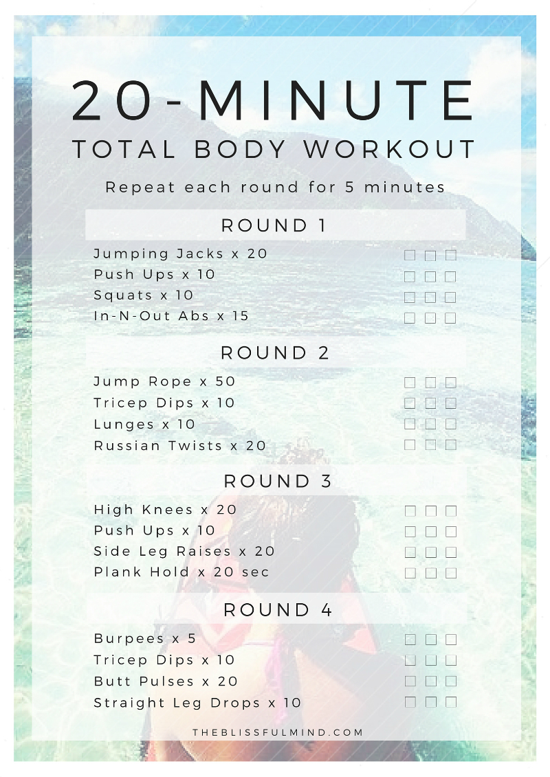 A Summer Workout Routine To Get Your Body Moving The Blissful Mind