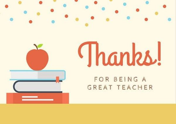 Thank You Note to Teacher from Parent & Thank you Letter to Teacher