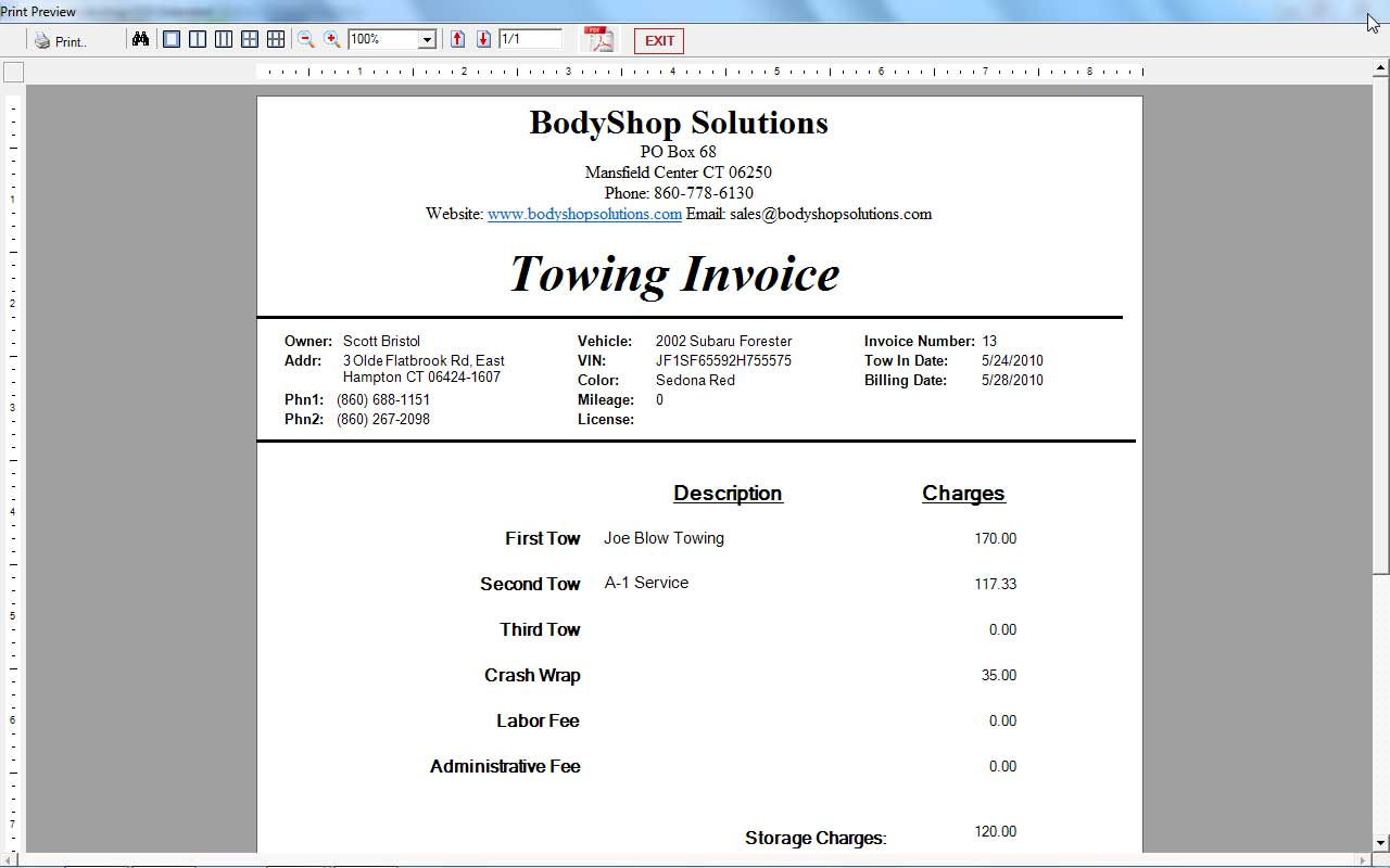 My Popular Tow Bill Helper Software is Now New and Improved |