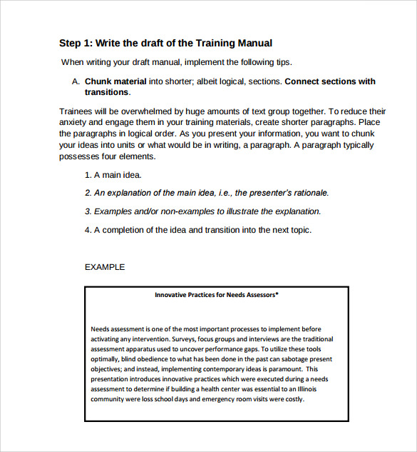 11+ Training Manual Samples – PDF | Sample Templates