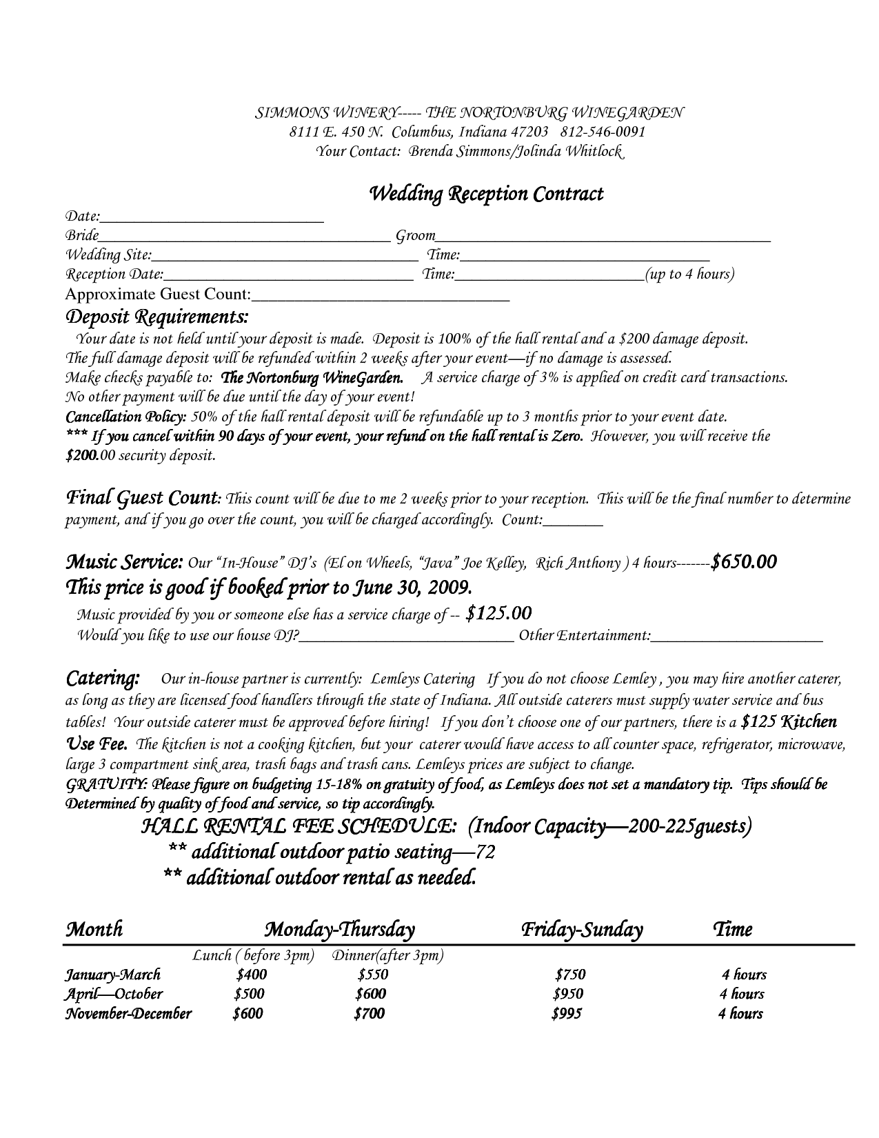 Wedding Officiant Agreement Contract Template Contracts