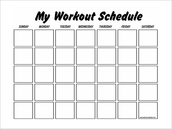 Workout Plan Template Workout Schedule Template 10 Free Word Excel