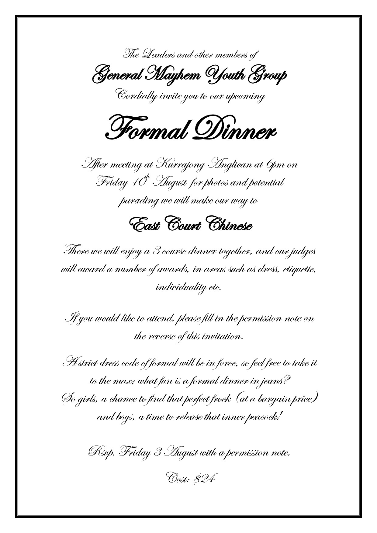 Business Dinner Invitation Template Mobile Discoveries