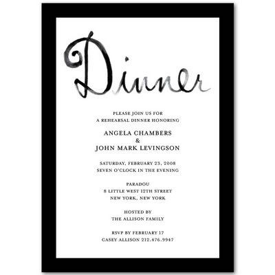 Invitation To Dinner Template Business Dinner Invitation Template