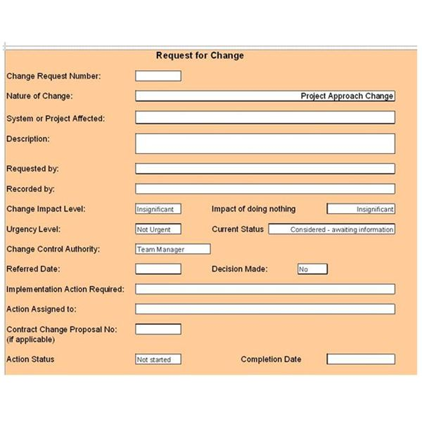 26 Images of Change Management Process Document Template