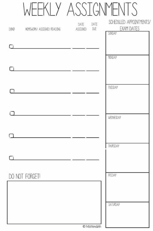 Free College Planner Printables + Stickers (MsWenduhh) | Planners