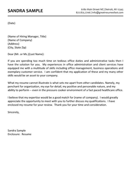 Administrative Assistant Cover Letter | Pinterest | Cover letter