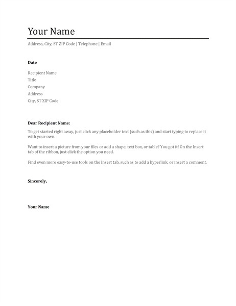 Cover Letter Templates Word | mobile discoveries