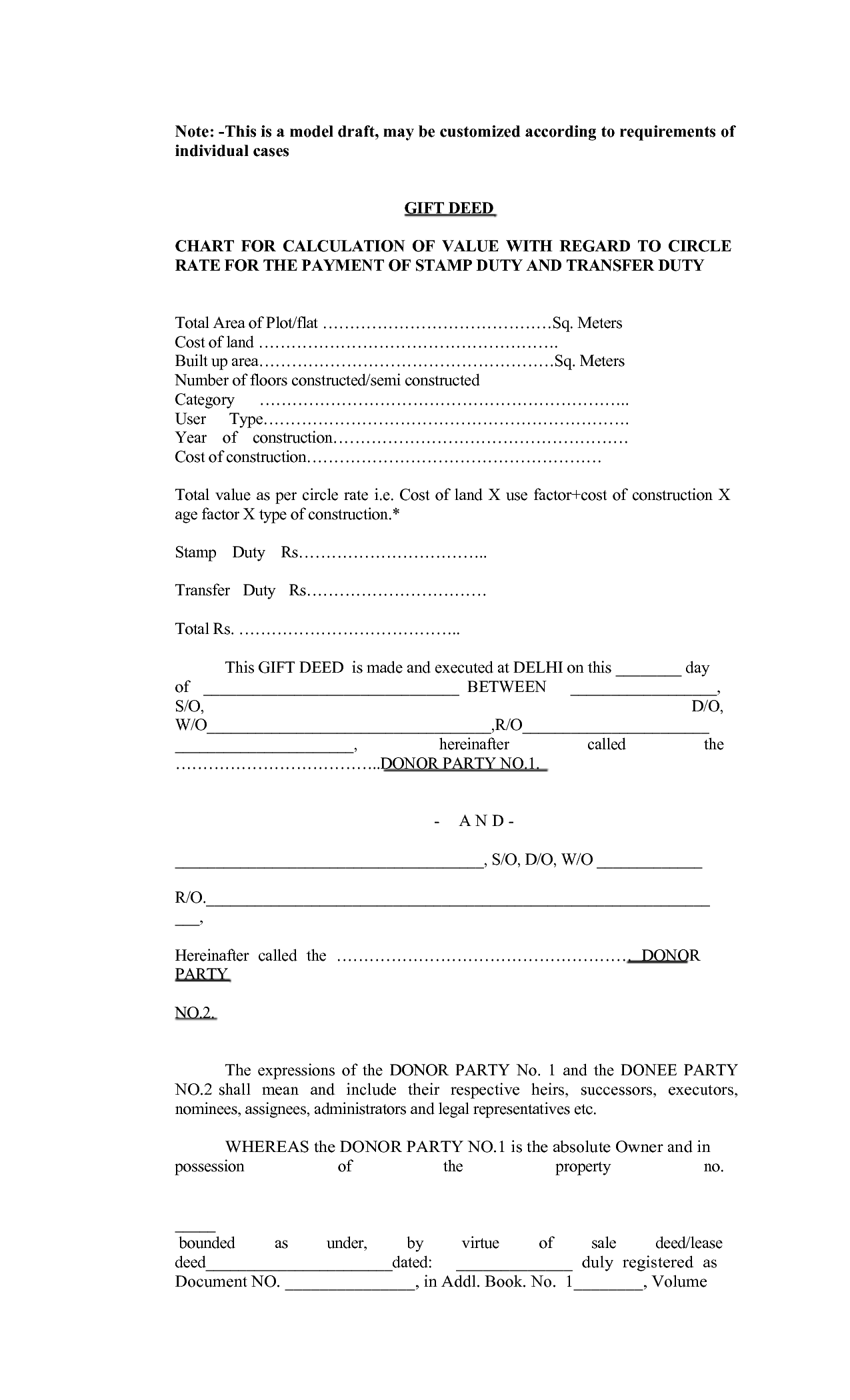 Tx Land Gift Deed Fill Online, Printable, Fillable, Blank