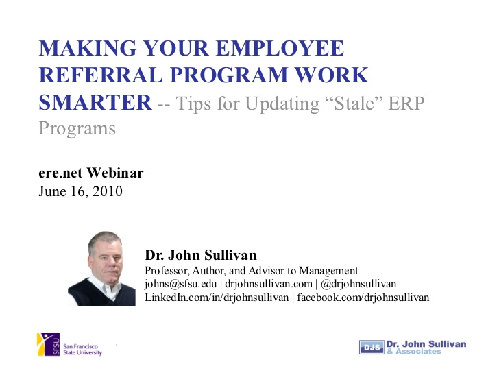 Making Your Employee Referral Program Work Smarter