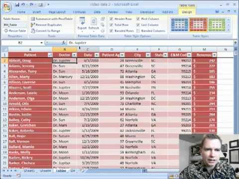 Excel Video 42 Table Design Tools YouTube