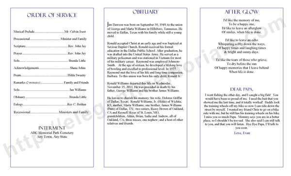 Funeral Program Template Blog | Funeral Programs
