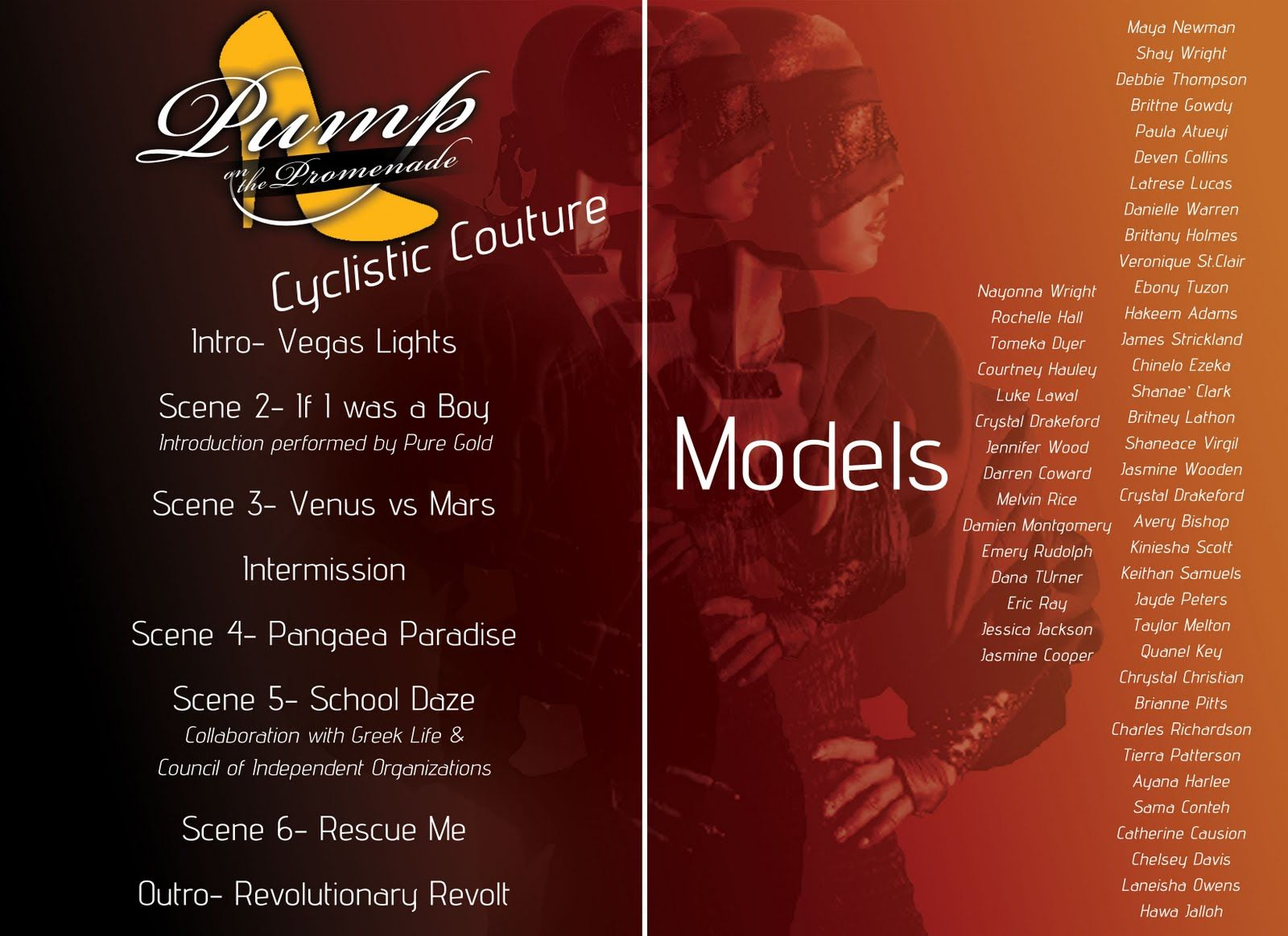 Fashion Show Program Example | : Graphic Design Work (Pump On