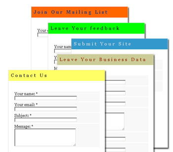Forms samples Cloud Contact Forms