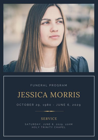 Customize 65+ Funeral Program templates online Canva