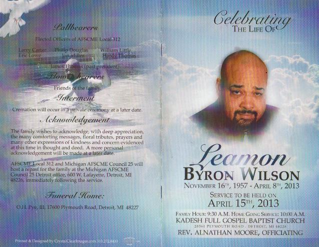 Leamon obit | VOICE OF DETROIT: The city's independent newspaper