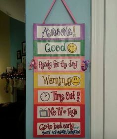 At home behavior chart for kids we're out of control & going to