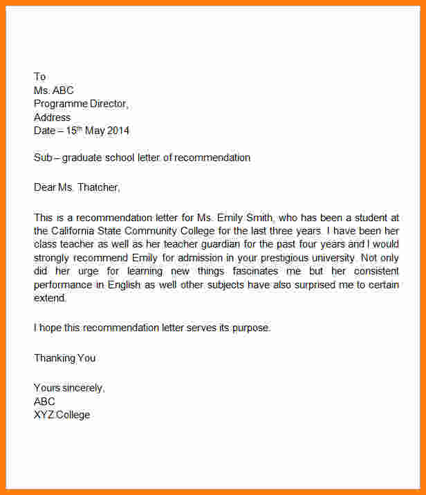 Elementary Student Recommendation Letter Letters Font