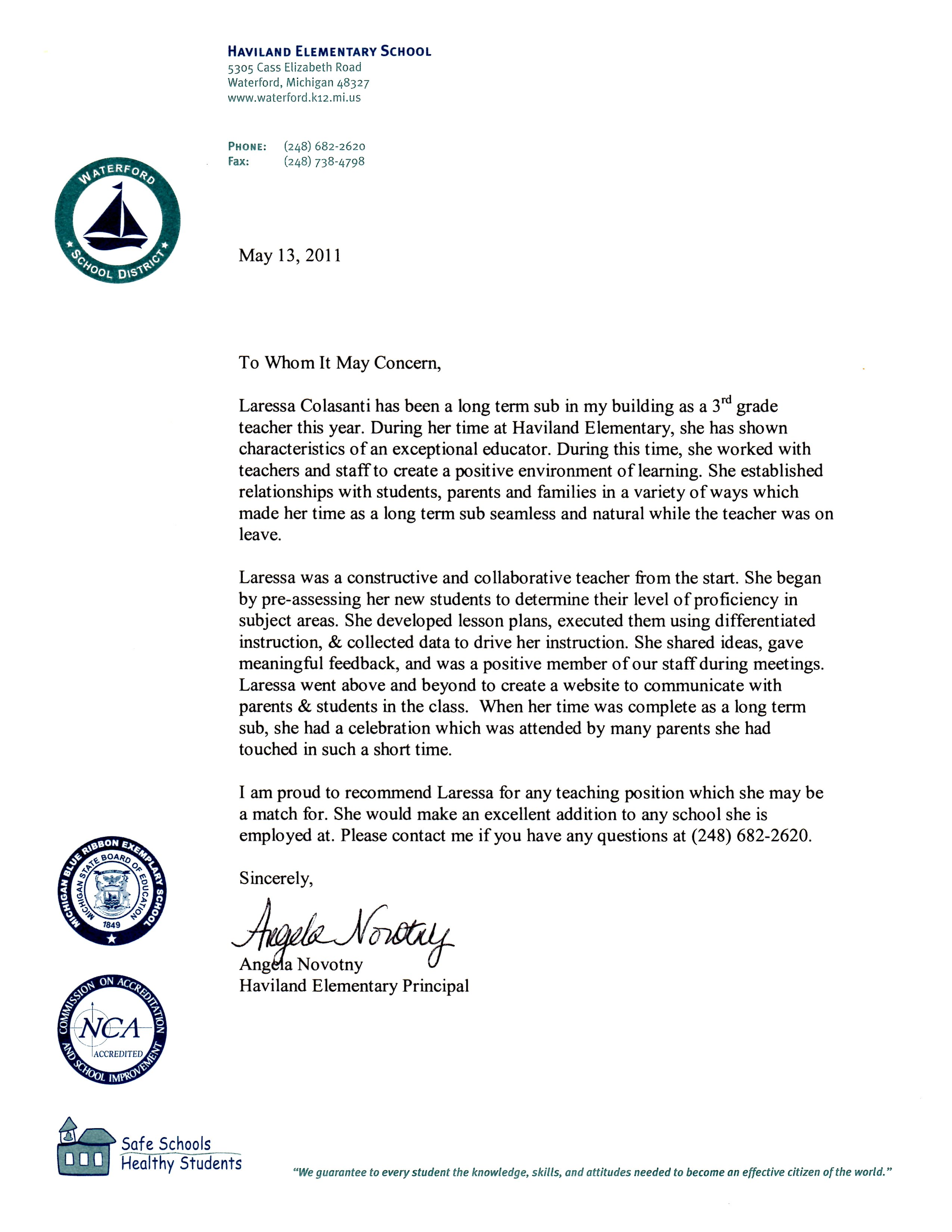 Letter From Teacher To Students