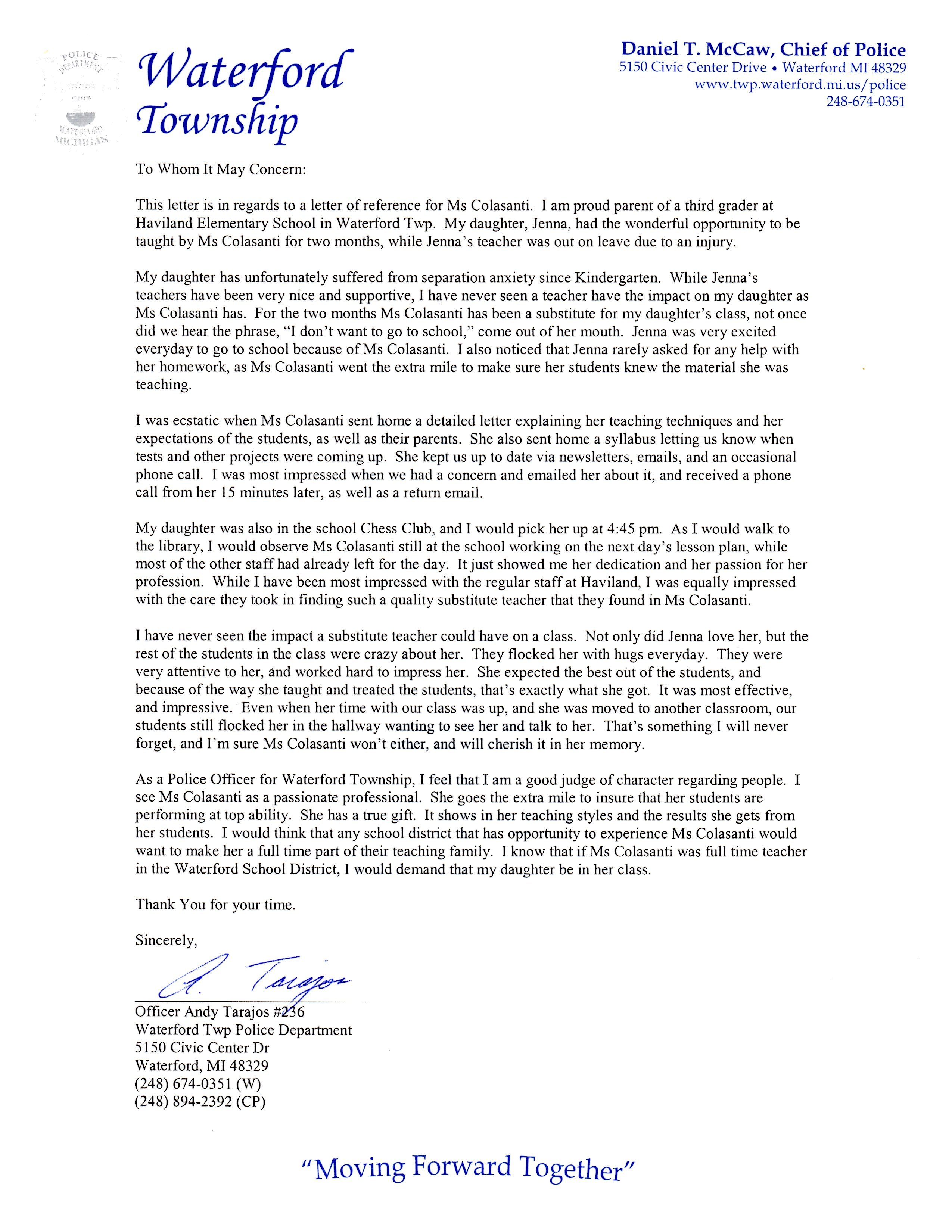 elementary student recommendation letter   Hadi.palmex.co