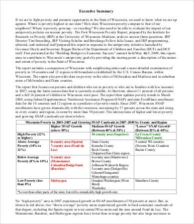 one page executive summary example April.onthemarch.co