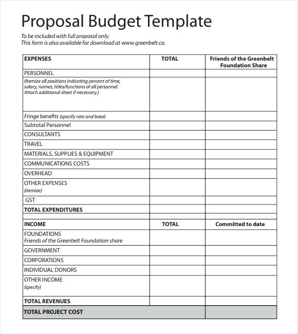 budget proposal template excel Kleo.beachfix.co