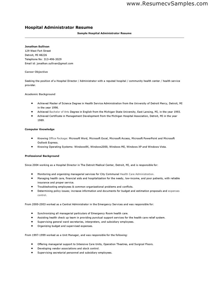 Resume For Hospital Job 6 18 Cna Template Free Sample