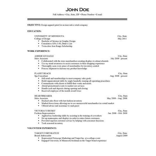 Resume Job Description jmckell.Com