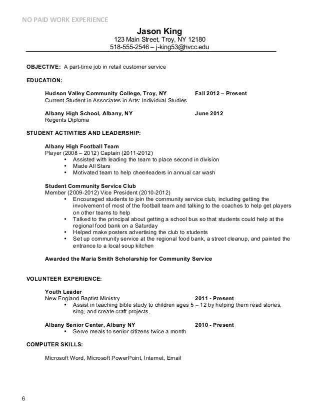 Part Time Job Resume outathyme.com