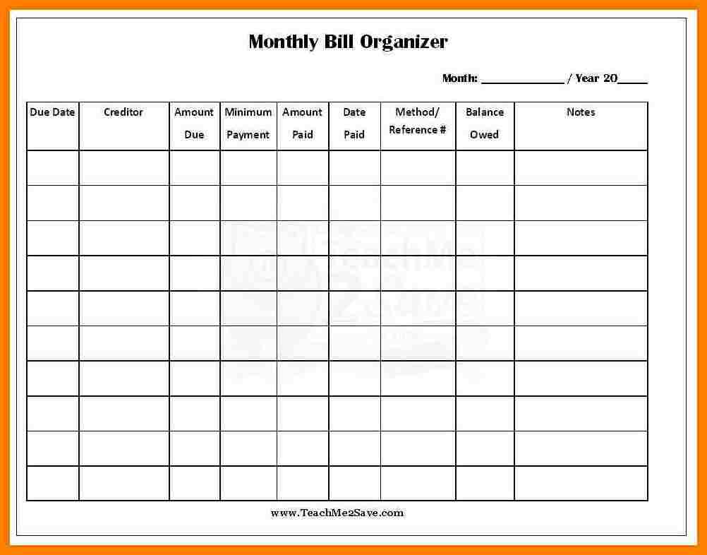 spreadsheet for bills Kleo.beachfix.co