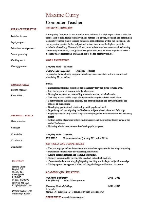 skills for teacher resume Kleo.beachfix.co