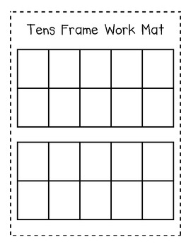Tens Frame Work Mat for Addition and Subtraction by Cuddle Bugs