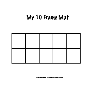 Tens Frame Mat Mobile Discoveries