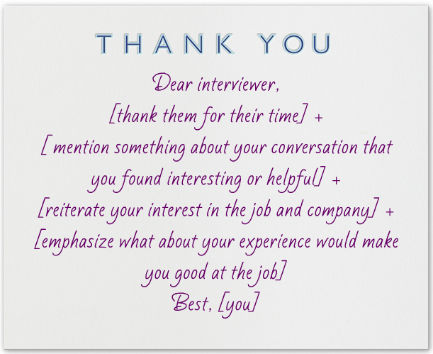 thank you card after interview Kleo.beachfix.co